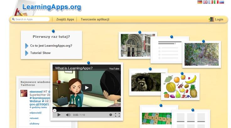 LearningApps - tworzenie materiałów multimedialnych