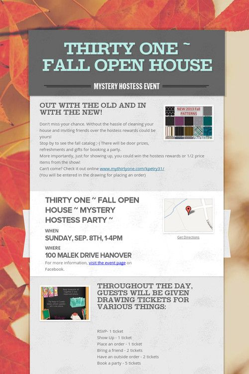 Thirty One ~ Fall Open House www.mythirtyone.com/chaslopez. *** This is exactly what I'm doing Chas! Even the same day!****