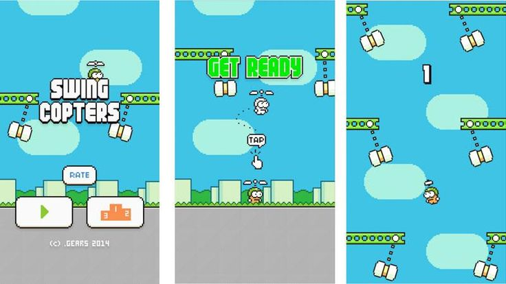Swing Copters gameplay