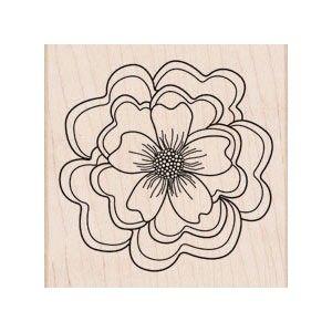 Hero Arts - RUFFLED FLOWER - dřevěné razítko