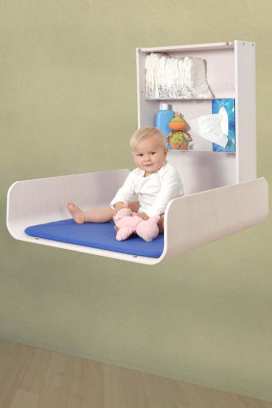 Wall mount changing table would be perfect for a small nursery.