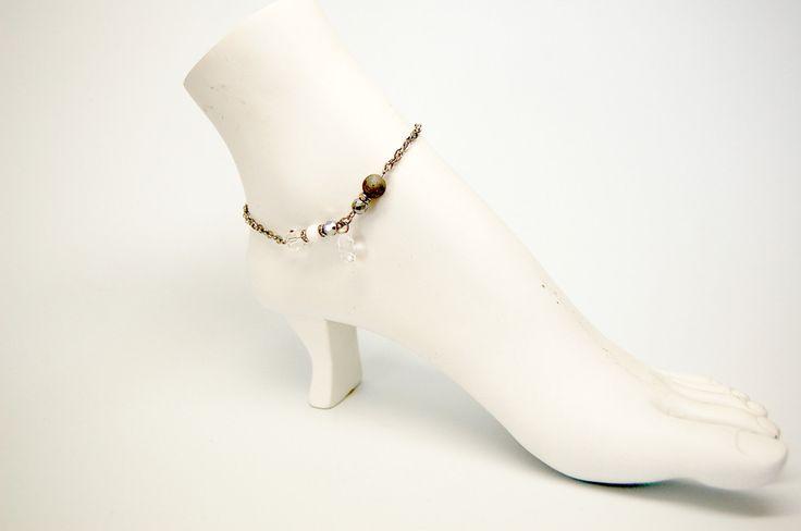 Bracelets de cheville Bijou cheville chaine de pied bijou cristal bijou chic bijou acier inoxydable Création Cristal Ev. #Airglaciale de la boutique CristalEv sur Etsy