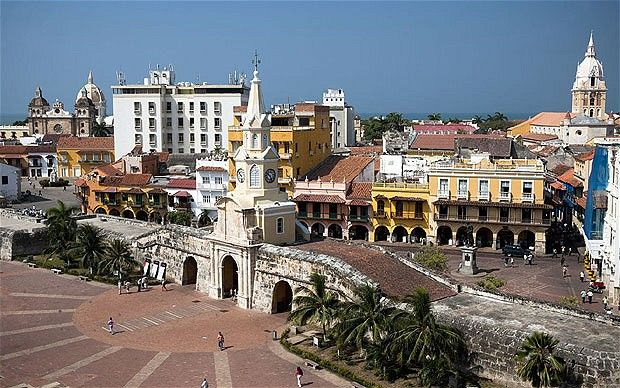 The CLOCK TOWER, the gateway to the Old City, stands in PLAZA DE LOS COCHES.