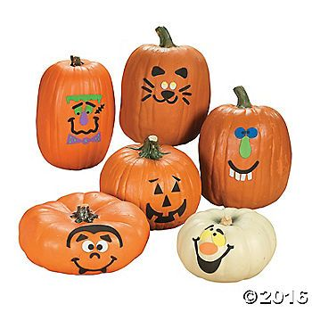 Pumpkin Decorating Kit. An easy way to decorate pumpkins this Halloween! Pumpkin Decorating Kits provide all the fun of jack-o'-lanterns without the mess. ...