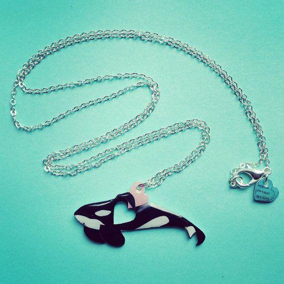 Keiko Orca / Free Willy necklace high gloss by KatieElizabethONeil