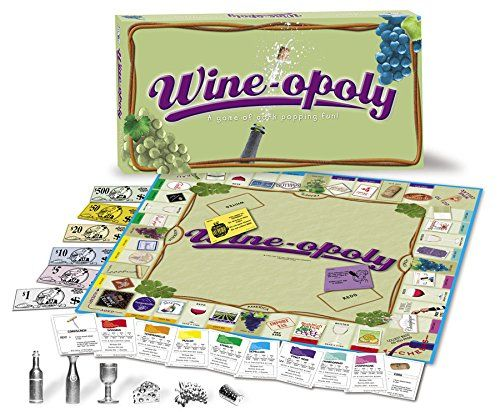 Happy Play Monopoly Day! November 19! Or any day you want to have a glass of wine! Wine-Opoly Monopoly Board Game!
