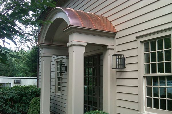 Arched Copper Portico Furniture Design Ideas And Home