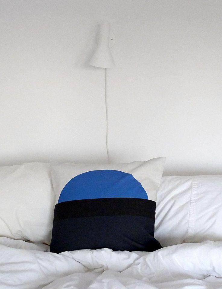 Kuddfodral - Geometri Blå