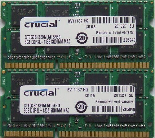 nice Ram memory upgrades 16GB kit (8GBx2) DDR3 PC3 10600 1333Mhz for latest 2011 Apple iMac's , Macbook Pro's and Mac Mini's