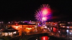 Catch a spectacular fireworks show throughout the year at Broadway at the Beach.