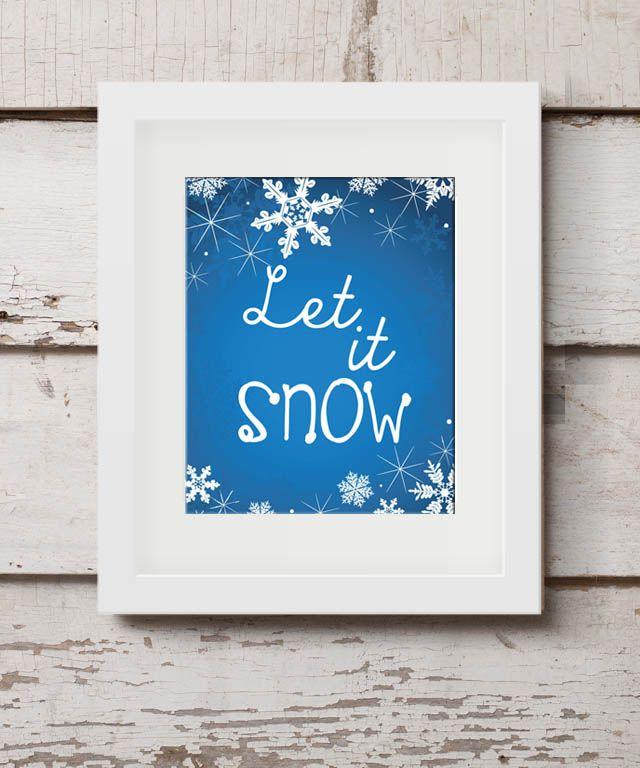 'Let It Snow' free printable