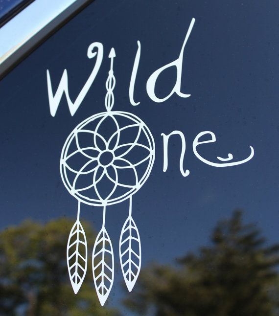 WILD ONE VINYL DECAL is the perfect car decal or wall decor for nature lovers, outdoorsy types, hikers, animal lovers, yoga enthusiasts, spiritual souls, tribal peeps, feather lovers, and dreamers! These easy to apply decals are made from high quality, outdoor-grade vinyl, and will stick to just about anything! - Windows - Walls - Wood - Plastic - Glass - Metal - Tiles - Mailboxes ....and more!  *note, they are easy to remove but not reusable, so chose your desired surface carefully…