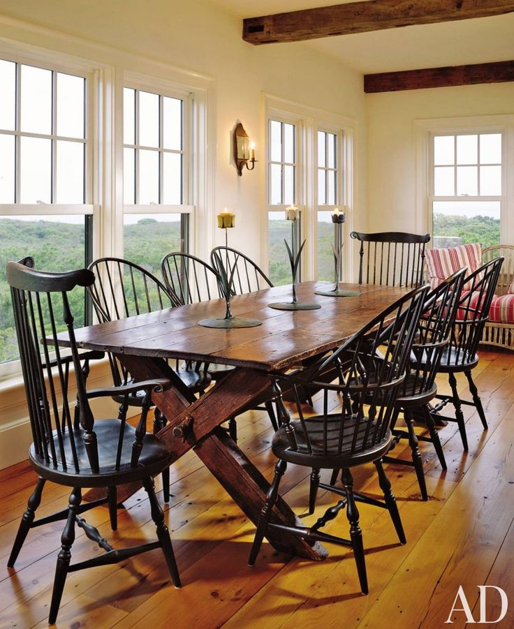 Rustic Country Dining Room Ideas 31 best black windsor chairs images on pinterest | windsor chairs
