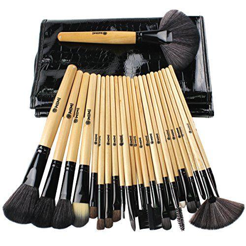 WIMI Lot de 24PC Pinceaux Maquillage Pinceaux Multifonctionnel Très Doux pour Brush,Paupières,Les Sourcils,Lèvre,Surligneur,Brosse à Cils…