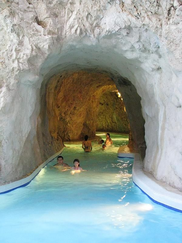 Thermal baths inside a cave - Miskolc Tapolca, Hungary.