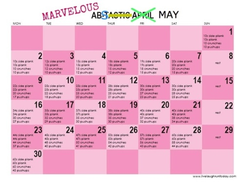 Marvelous abs May--starting on the 17th :). Or is it the 18th today?