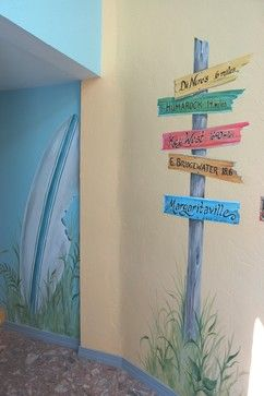 beach murals | Kids Room Murals -- maybe this is how we can paint the walls of our safe spot