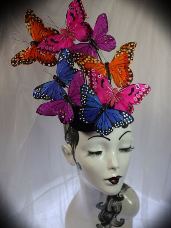 Butterfly hat Effie Trinket Hunger games Catching by TartanToppers