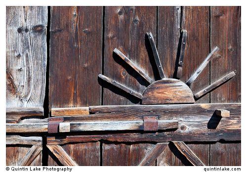 Door of Thatched wooden vernacular shed / stables from Surdesti, Maramures. Built: C17
