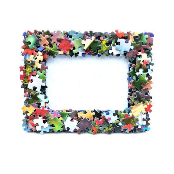 marco de piezas de rompecabeza