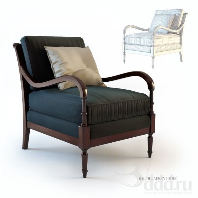 """PROFI"" Ralph Lauren, Elise Lounge Chair L403-03 3dsMax 2011 + obj (Vray) : Кресла : Файлы : 3D модели, уроки, текстуры, 3d max, Vray"