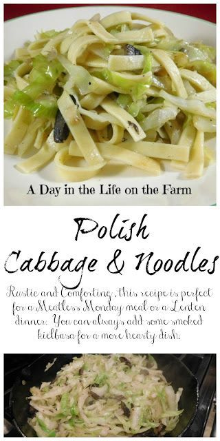 Polish Noodles and Cabbage #CookbookMonth