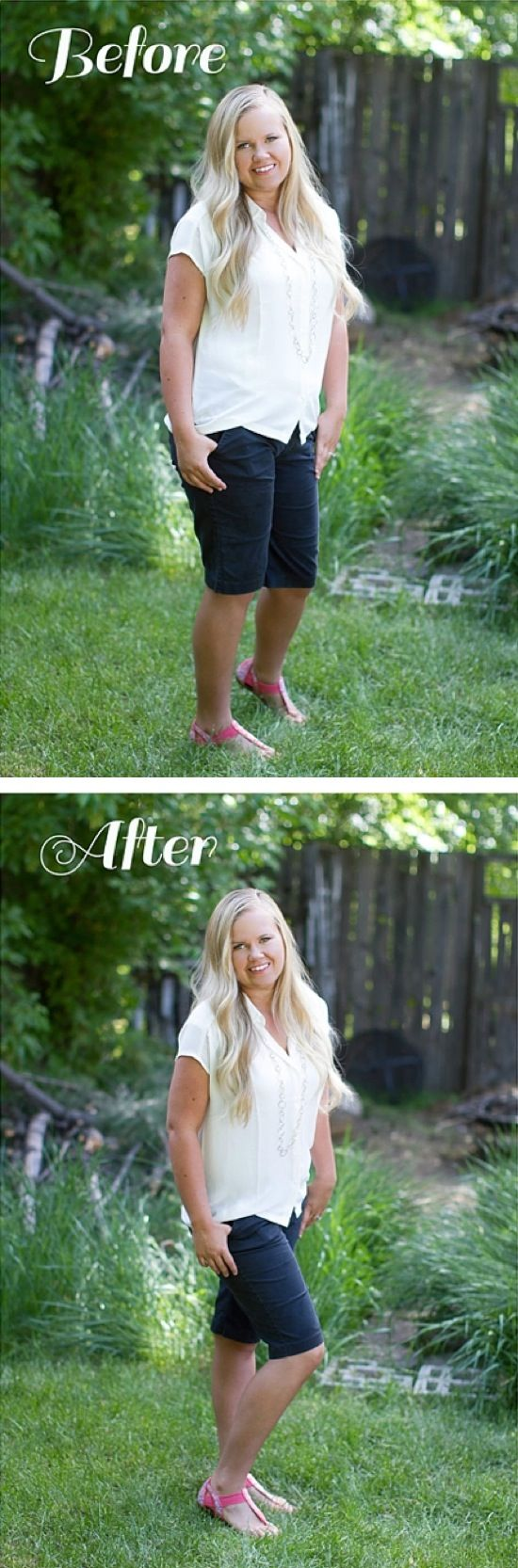 10 Ways To Look Better in Photos | The slimming stance.