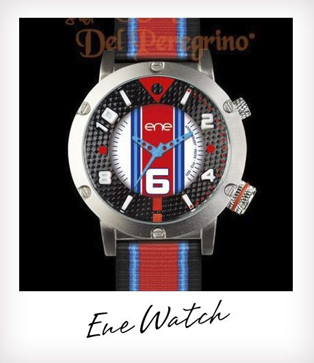 Ene Watch Thema horloges, in kleuren van Gulf Porsche Steve McQueen en Aryton Senna....helemaal gaaf.