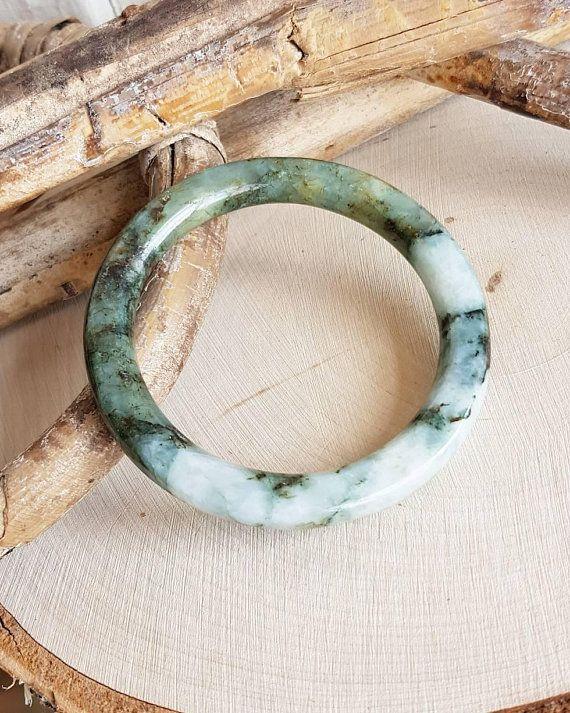 Chinese Natural Beautiful Yellow White Jade Jadeite Bangle Bracelet