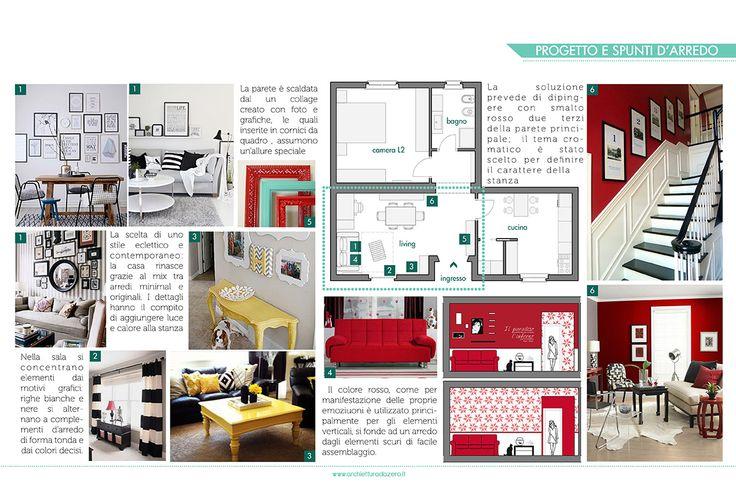 VOGLIA DI COLORE! Restyling di un appartamento per giovane coppia. Project  www.architetturadazero.it