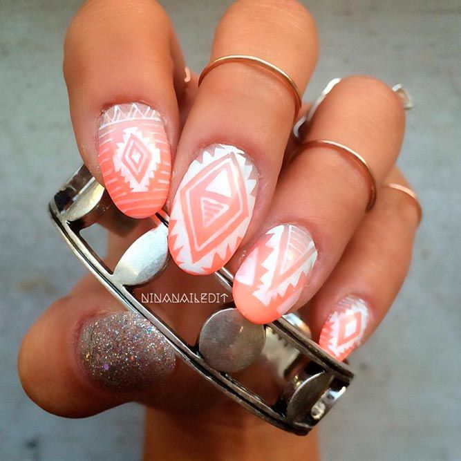21 Lovely Peach Color Nails Designs You Must To Try