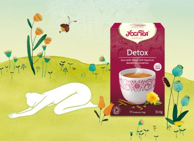 Spring awakening with YOGI TEA®  Nature looks and smells enchantingly pure and fresh after the rain. Similarly our own nature has the ability to renew itself in regular cycles. Herbs can help us with this. YOGI TEA® Detox is a balanced blend of sweet liquorice and spicy ginger, combined with time-honoured herbs dandelion and burdock root.   Discover more on our blog about the yoga exercise related to the YOGI TEA Detox.