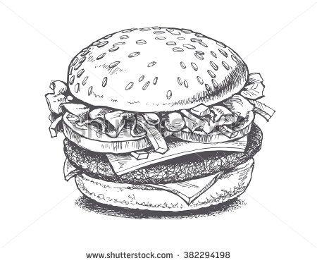 Burger Stock Vectors & Vector Clip Art | Shutterstock
