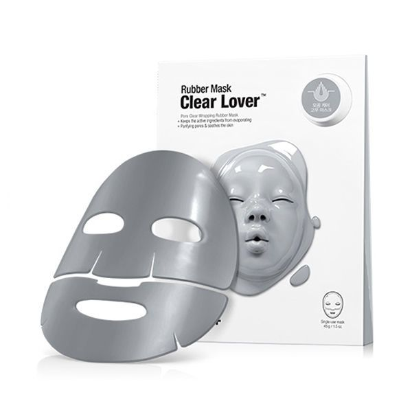 The Rubber mask makes the skin refreshed by Clear Wrapping system.