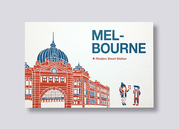 Postcard│Melbourne Flinders Street Station