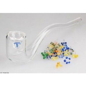 Glass Pipe Screens - Flower Style - Pack of 20