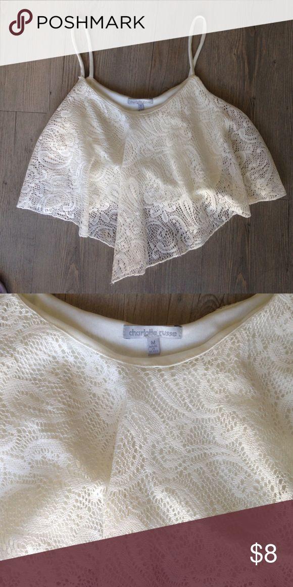 Boho cream crop top. Cute cream crop top. Size M Charlotte Russe Tops Crop Tops