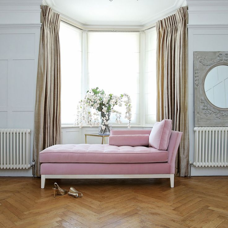 I lovethe combination of colours here Delphine Chaise Longue | Think Pink | Sweetpea & Willow