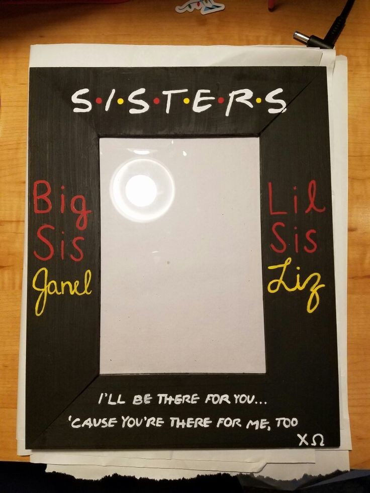 chi omega friends biglittle picture frame