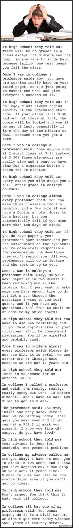 Essays Papers College As Explained To Me In High School Vs College As Experienced  High School Graduation Essay also Yellow Wallpaper Essays Best  High School Vs College Ideas On Pinterest  College  Science Essays