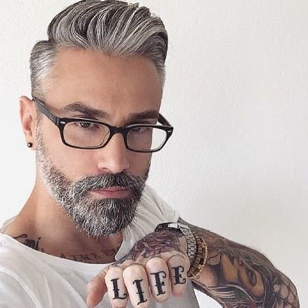 """2,296 Likes, 95 Comments - Best Men's Hairstyles and Cuts (@menshairs) on Instagram: """"By @silver.fox.x"""""""
