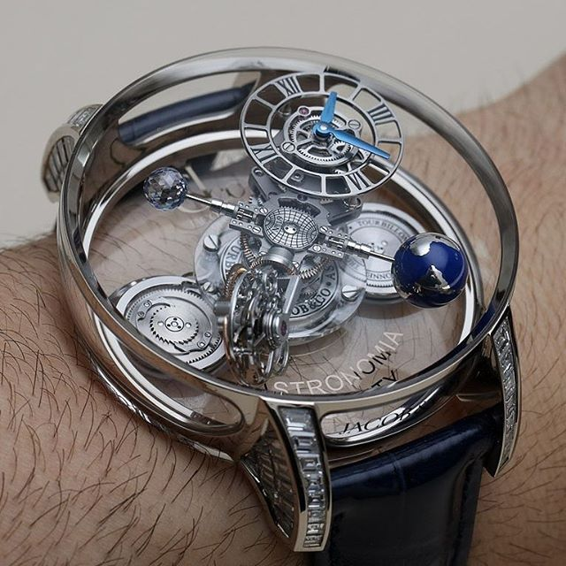 Jacob & Co. Astronomia Clarity Baguette. A 365-piece movement  created in heaven...🌍☁ ○ ⌚Timepiece: @jacobandco 📷Photo: @ablogtowatch  #swisswatchgang