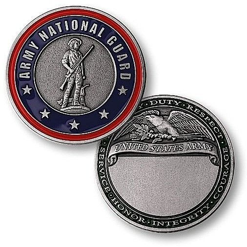 Army National Guard Engravable Challenge Coin
