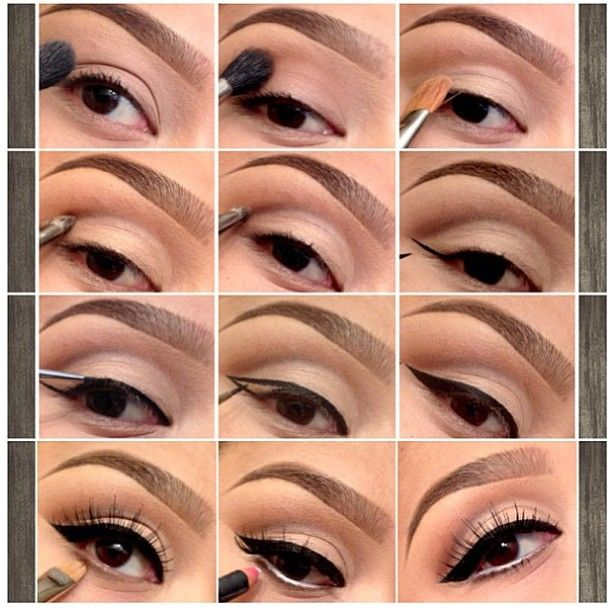How to neutral eyes and cat eyeliner