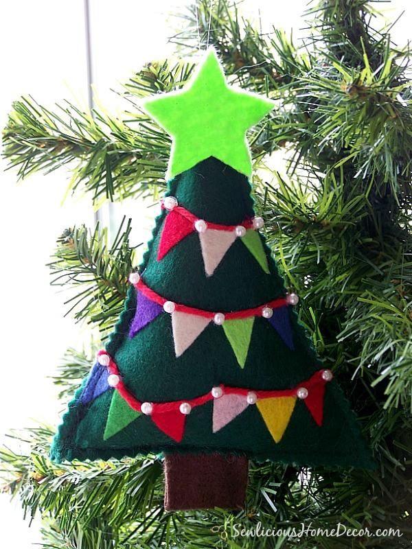 42 best diy felt christmas tree images on pinterest felt christmas diy felt christmas tree diy felt bunting christmas tree ornament solutioingenieria Choice Image