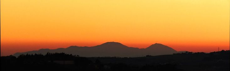 Ancona, Marche, Italy- Sunset on the Apennines by Gianni Del Bufalo CC BY-NC-SA    View from Ancona - IMG_3249-52 stitch -