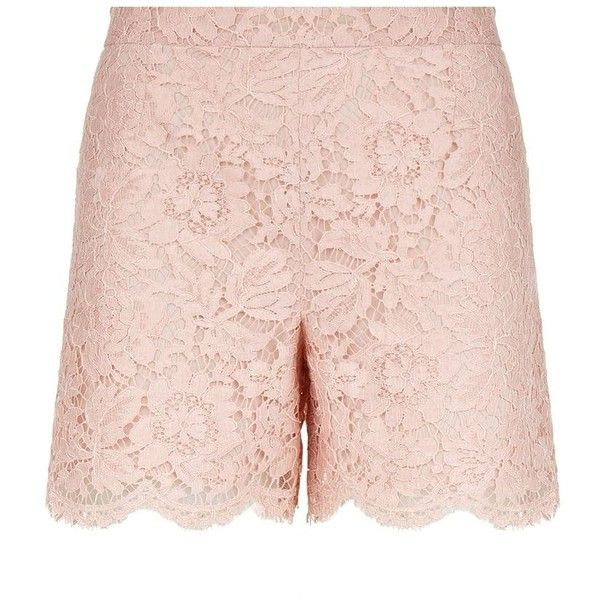Valentino Lace High Waist Shorts ($885) ❤ liked on Polyvore featuring shorts, high-rise shorts, high-waisted shorts, scallop hem shorts, highwaist shorts и lacy shorts