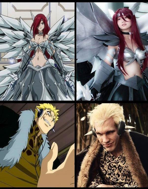 Fairy Tail Erza and Laxus cosplay | Косплей | Pinterest