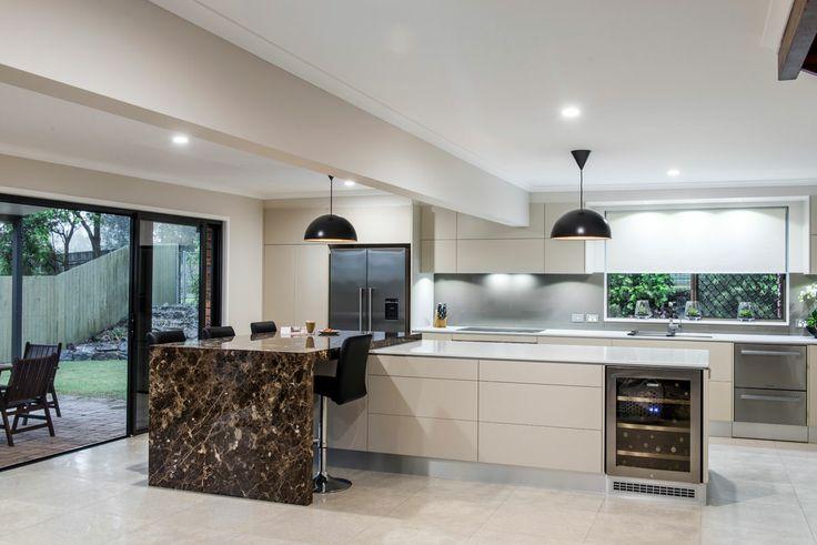 Sublime Architectural Interiors #Kitchen featuring #Caesarstone Osprey #benchtops #interiordesign #inspiration #light #white