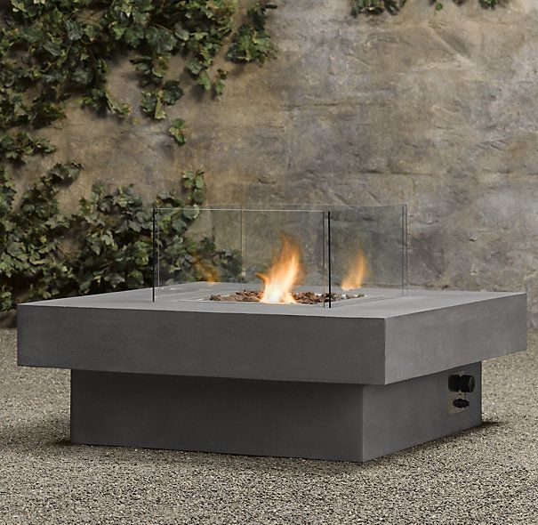 Amazing Laguna Concrete Ventless Fire Table   Square | Garden | Pinterest | Fire  Pits, Other And Columns